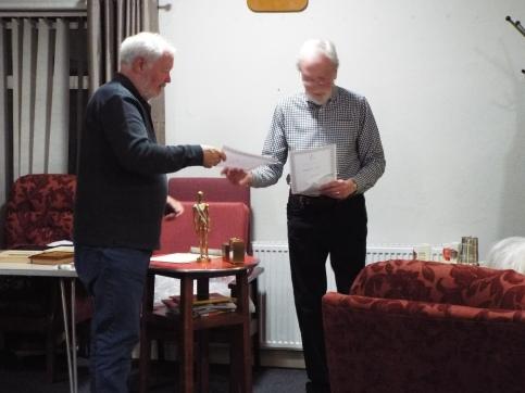 Chris Wiseman receiving 2nd prize